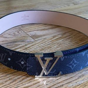 Louis Vuitton Accessories - Louis Vuittons LV Initiales Belt Damier Graphite